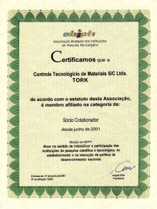 Certificado ABIPTI