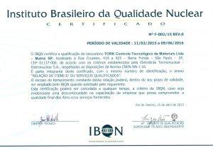 Certificado IBQN