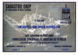 Certificado ONIP