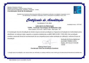 Acreditação INMETRO RBC_0086