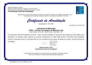 Certificado RBLE 0056