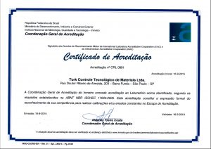 Acreditação INMETRO RBLE CRL 0891