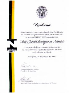 Diploma ISO 9000